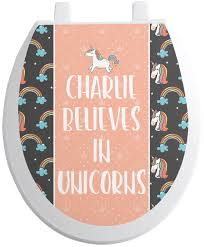 Unicorns Toilet Seat Decal Personalized Youcustomizeit