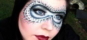 masquerade ball mask with makeup