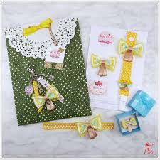 baby shower gift idea yellow bows