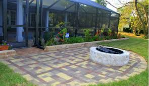 space with hardscaping pavers