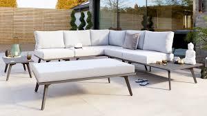 bali corner garden bench and table