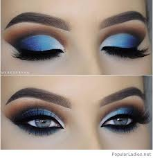 blue eye makeup for blue eyes