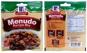 mccormick menudo recipe mix 30 g
