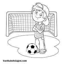 Kleurplaat Voetbal Printen Gratis Voetbaluitslagen Com