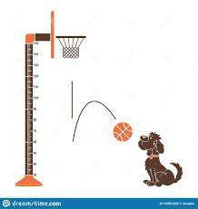 Kids Height Ruler With A Dog Ball Anh Basket Ball For Wall Decals Wall Stickers Vector Stock Vector Illustration Of Design Ruler 163921228