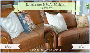 repairing and refurbishing leather