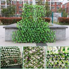 Amazon Com Window Pick 50x38cm Expanding Trellis Fence Retractable Fence Artificial Garden Plant Fence Expandable Fence Privacy Screen Uv Protected Privacy Screen Faux Ivy Fencing Panel For Backyard Home Decor Garden