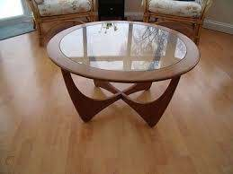 g plan glass top round coffee table