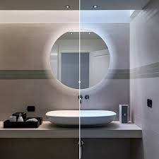 led illuminated 600mm round mirror