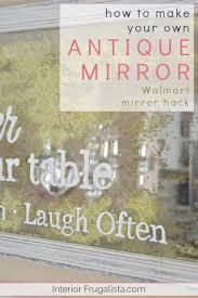 inexpensive mirror look antique