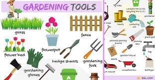 gardening tools names list with