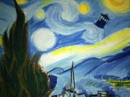 doctor who tardis wallpaper van gogh