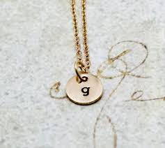 gold initial necklace letter g necklace