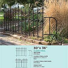 Amazon Com Panacea Products 87102 38 Garden Fence Post Black Outdoor Decorative Fences Garden Outdoor