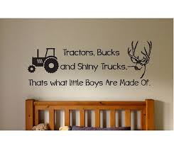 Tractors Bucks And Trucks Wall Decal Sticker Large Farm Kids Etsy Farm Kids Boy Room Wall Decal Sticker