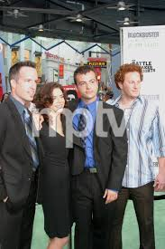 """Battle At Shaker Heights"""" Premiere 8-11-03Kyle Rankin, Erica Beeney,Efram  Potelle,Jeff BalisPhoto by Sam Kweskin - Image 21404_0202   Most iconic  images of the 20th century   MPTV Images"""