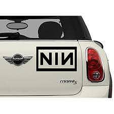 Amazon Com Nin Black Bands Automotive Decal Bumper Sticker Automotive