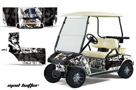 Club Car Precedent Golf Cart Graphics Mad Hatter White Golf Cart Graphic Decal Kit Golf Cart Graphic Kits Graphic Kits