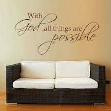 Bibel Verse Vinyl Wall Decal With God All Things Are Possible Christian Wall Sticker 56cm X 114cm Vinyl Wall Decals Wall Decalswall Sticker Aliexpress
