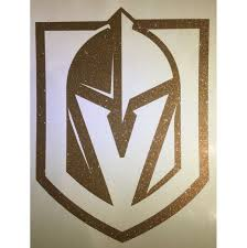 Vegas Golden Knights Glitter Decal Etsy