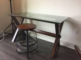 Best Pottery Barn Ava Wood & Glass Desk for sale in Highland Park, Texas  for 2020