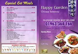 happy garden chinese takeaway in