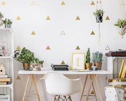 Triangle Wall Decals Geometric Wall Decal Set Vinyl Wall Etsy