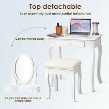 small vanity table stool set makeup