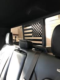 Ford F150 F250 F350 Back Middle Window American Flag Decal 2015 20 Elevated Auto Styling