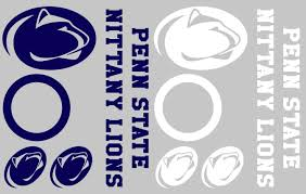 Amazon Com Penn State Nittany Lions Cornhole Decal Set Free Circles And 4 Free Car Window Decals Home Kitchen