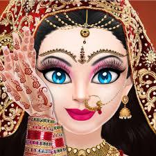 indian bridal dressup and makeup games