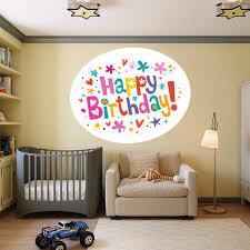 Shop Full Color Happy Birthday Celebration Holiday Full Color Wall Decal Sticker Sticker Decal 22 X 30 Overstock 15326362