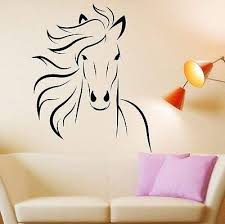 Amazon Com Wild Animal Horse Mustang Wall Decal Room Decor Sticker Vinyl Mural Living Room Kitchen Dining