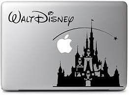 Amazon Com Hvd Disney Castle Decal Sticker Skin For Apple Macbook Air Pro 11 13 15 17 Laptop Computers Accessories