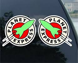 Futurama Planet Express Vynil Car Sticker Decal 5 2 Pack Buy Online In Bermuda Sticky Pig Products In Bermuda See Prices Reviews And Free Delivery Over Bd 70 Desertcart