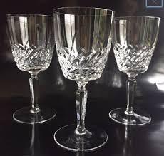 aperitif wine glasses 6 leaf cut