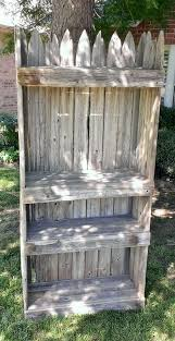 Picket Fence Shelf Using Reclaimed Repurposed Wood Perfect For Repurposed Wood Barn Wood Crafts Rustic Shabby Chic