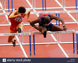 Allen Johnson Hurdles Stock Photo: 107295320 - Alamy
