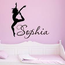 Cool Personalised Dance Wall Stickers Girls Room Vinyl Decals Female Silhouette Customized Name Decor You Select Name And Color Decal Car Stickers Decal Logosticker Wall Decal Aliexpress