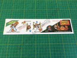 Donkey Kong Junior Dk Jr Instructions Decal Sticker Below Bezel Arcade Art Shop