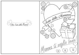 felice festa della mamma da colorare – Bimbi di Carta