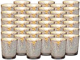silver mercury glass votive candle
