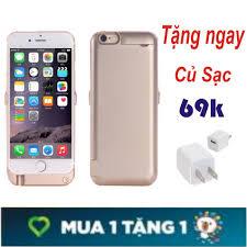 Ốp Lưng Kiêm Sạc Dự Phòng Bảo Vệ Máy Cho Iphone 6 Plus/6sPlus- Hàng Chất  Lượng loại 1 + Tặng Củ Sạc Điện Thoại, giá chỉ 200,000đ! Mua ngay kẻo hết!