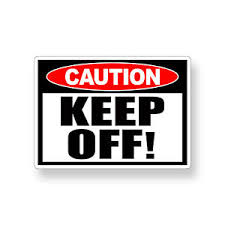 Keep Off Sticker Warning Attention Caution Vinyl Safety Wall Door Window Decal Ebay