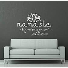 Wall Decals Quotes Buddha Quote Sign Words Namaste Yoga Mandala Lotus Flower Wall Vinyl Decal Stickers Bedroom Murals Amazon Com