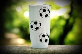 Decal For Tumbler Soccer Decal Soccer Ball Decal Tumbler Etsy