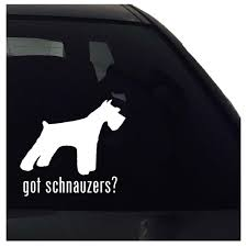 Got Schnauzers Schnauzer Dog Vinyl Decal Sticker Car Decal Sticker Nuovocreations