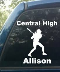 Personalized Softball Pitcher Decal Decal Depot Net