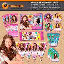 Kit Imprimible Soy Luna Patines Personalizado Candy Bar 600 00