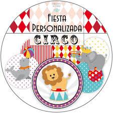 Kit Imprimible Personalizado Circo Candy Bar Bautismo 439 00 En Mercado Libre